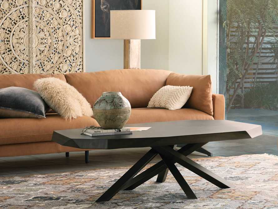 """Carrinna 56"""" Coffee Table in Oscuro, slide 1 of 10"""