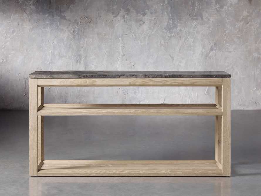 "Danyon 62.25"" Console Table in Natural, slide 1 of 6"