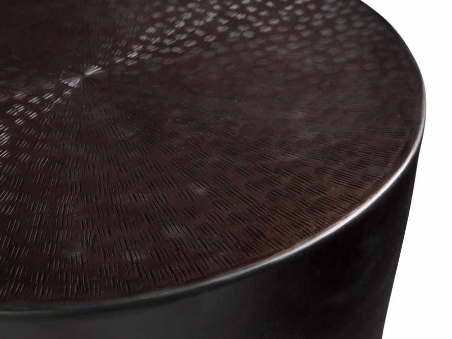 Radial Drum End Table