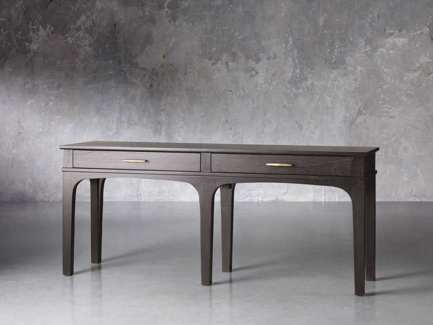 "Edlyn 75.5"" Console Table in Ristretto, slide 2 of 5"