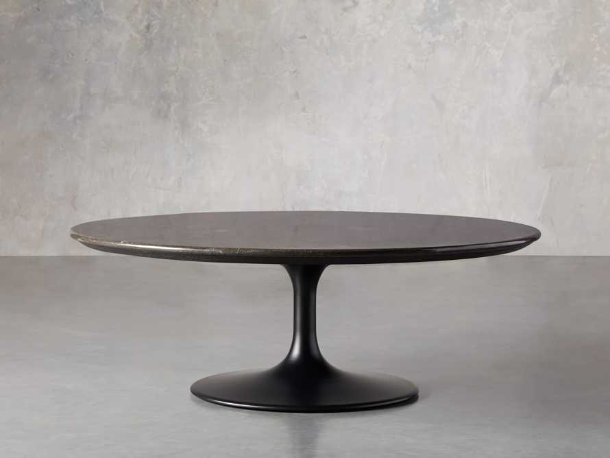 "Enzo 48"" Round Bluestone Coffee Table, slide 2 of 6"