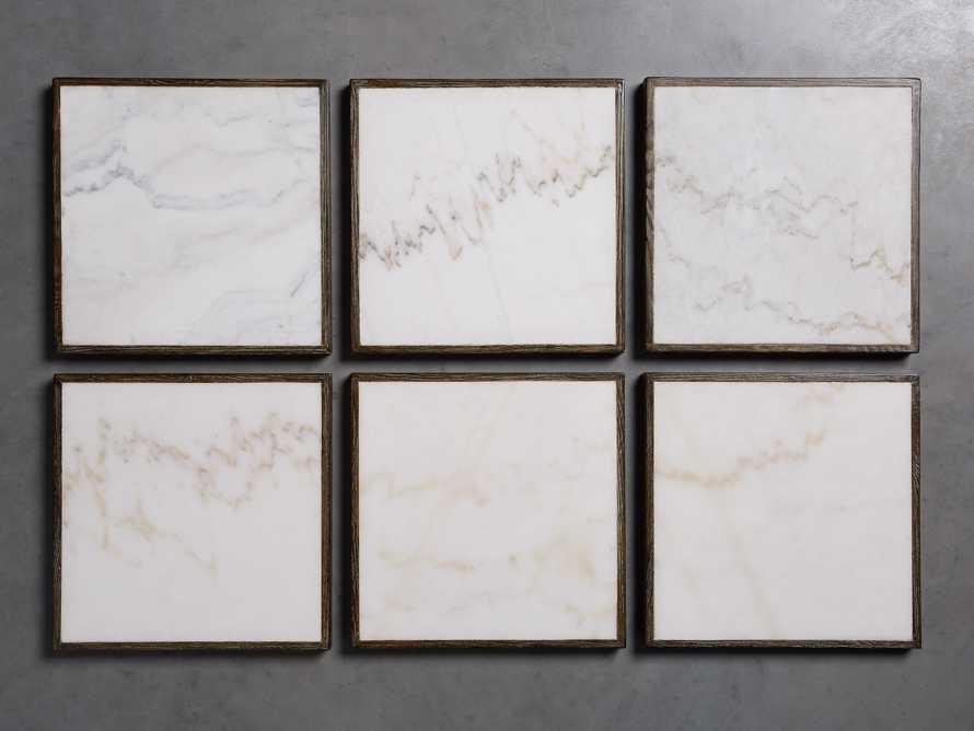 "Enzo 48"" Round White Marble Coffee Table"