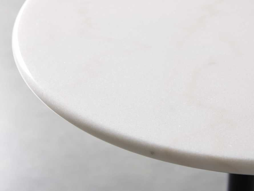 "Enzo 22"" Round White Marble End Table, slide 2 of 8"