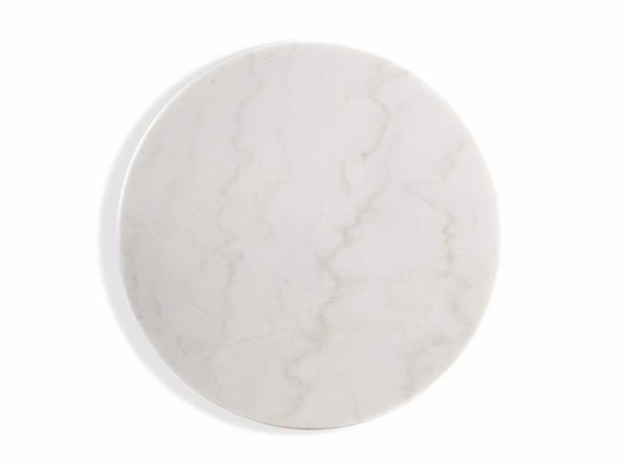 "Enzo 22"" Round White Marble End Table, slide 5 of 8"