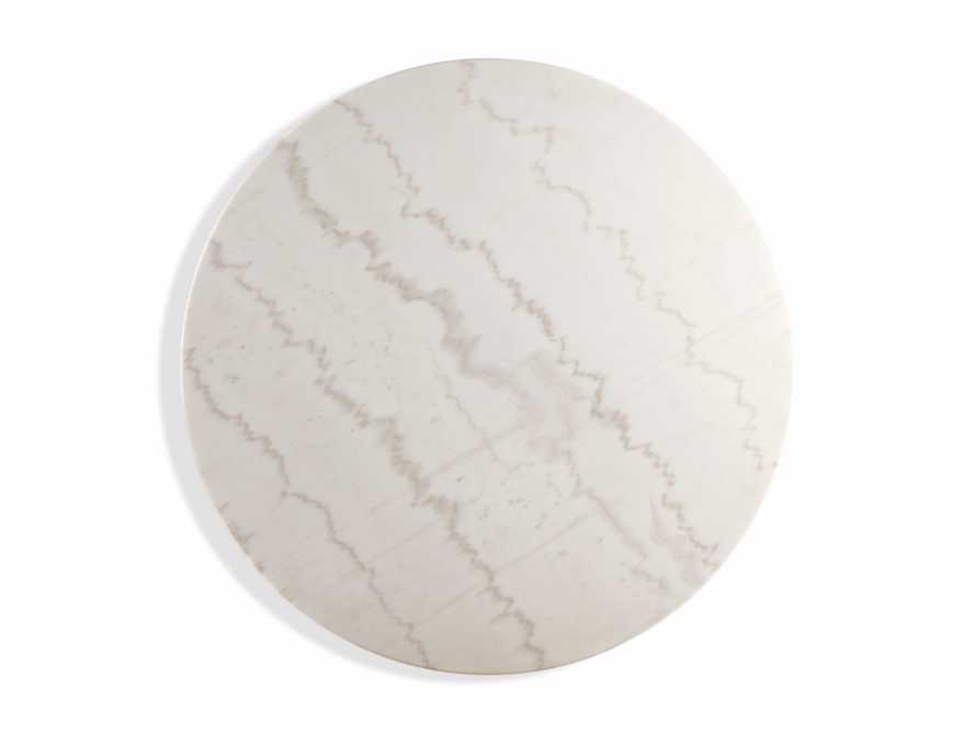 "Enzo 22"" Round White Marble End Table, slide 3 of 8"