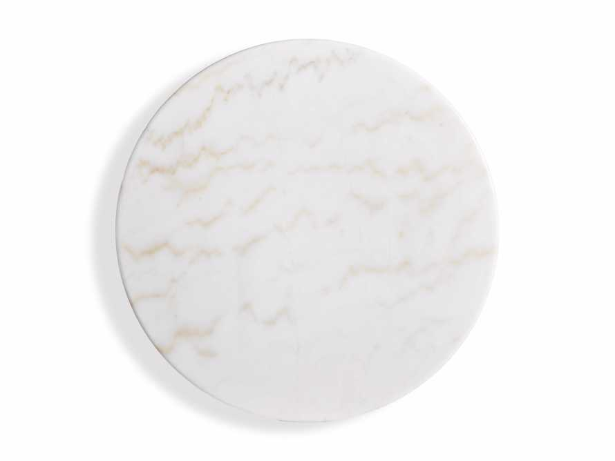 "Enzo 22"" Round White Marble End Table, slide 4 of 8"