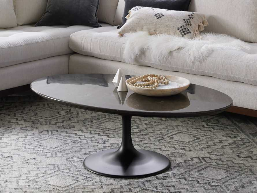 "Enzo 51"" Oval Bluestone Coffee Table, slide 1 of 6"