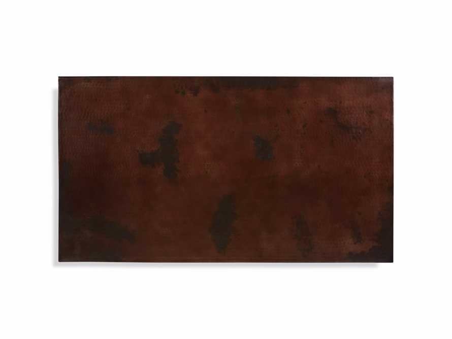 "Flores 54"" Chocolate Copper Coffee Table"