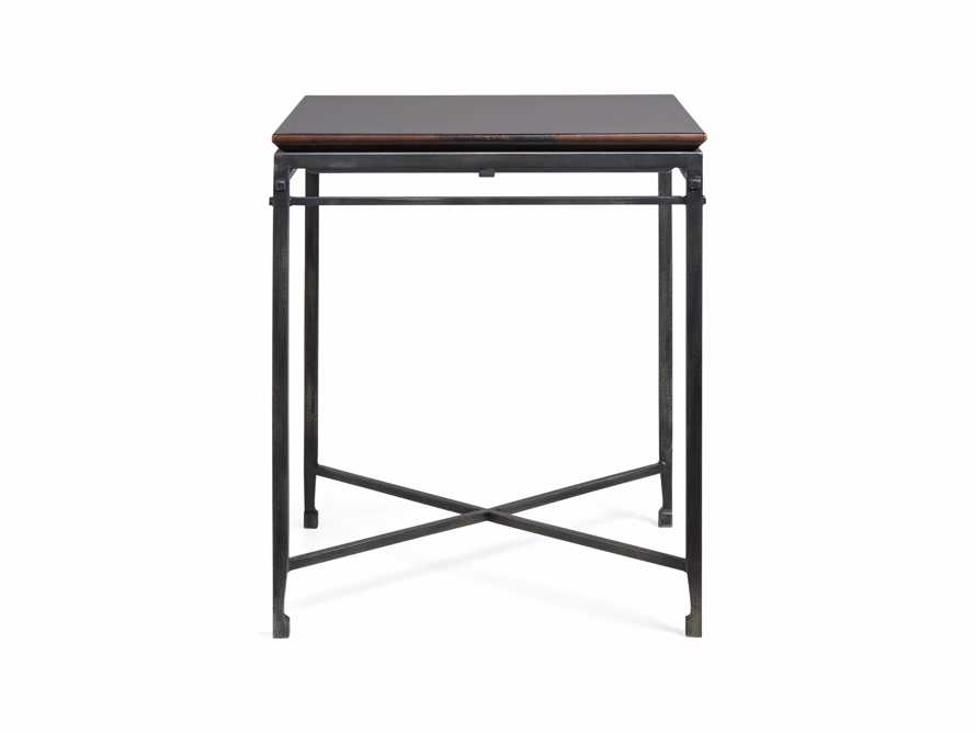 """Flores 20"""" Chocolate Copper End Table"""