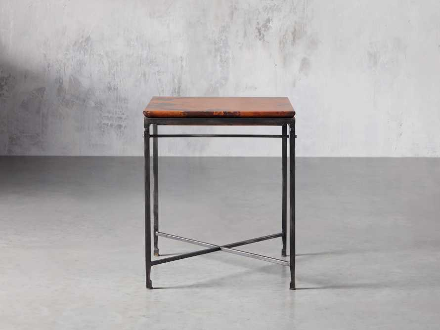 "Flores 20"" Copper End Table, slide 1 of 8"