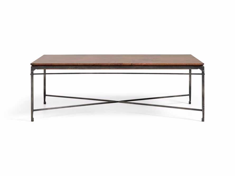 "Flores 54"" Copper Coffee Table, slide 7 of 8"