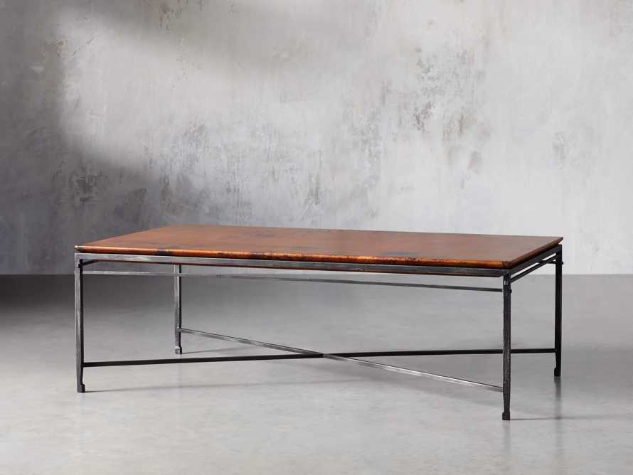 "Flores 54"" Copper Coffee Table, slide 2 of 8"