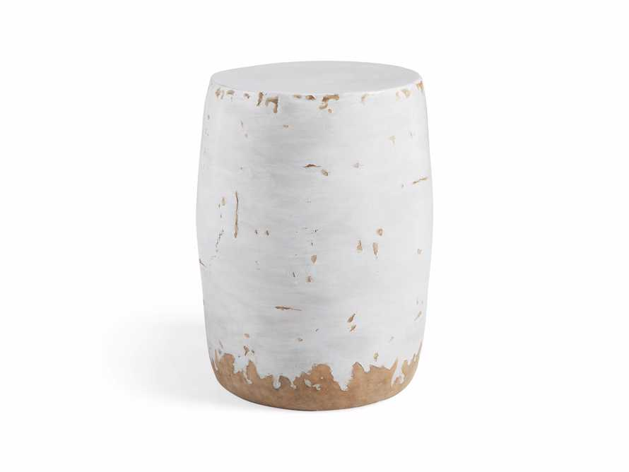 Garden Stool in Antique White