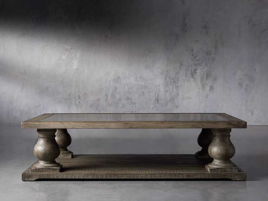 "Hudson 60"" Coffee Table With Bluestone Top, slide 2 of 10"