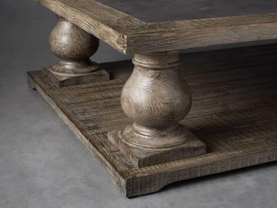 "Hudson 60"" Coffee Table With Bluestone Top"