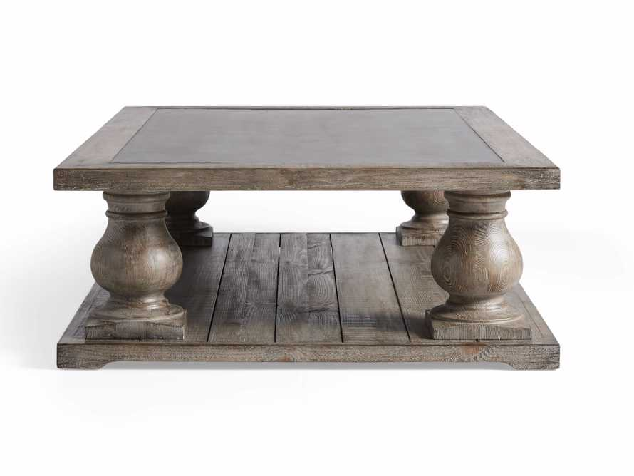 "Hudson 60"" Coffee Table With Bluestone Top, slide 9 of 10"