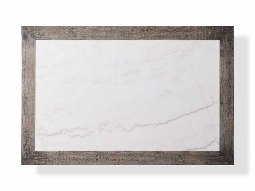 """Hudson 60"""" Coffee Table With White Marble Top, slide 4 of 5"""