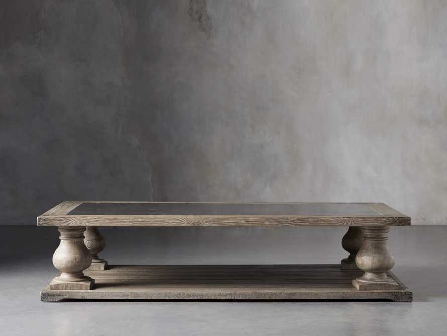 """Hudson 71"""" Coffee Table With Bluestone Top, slide 1 of 9"""