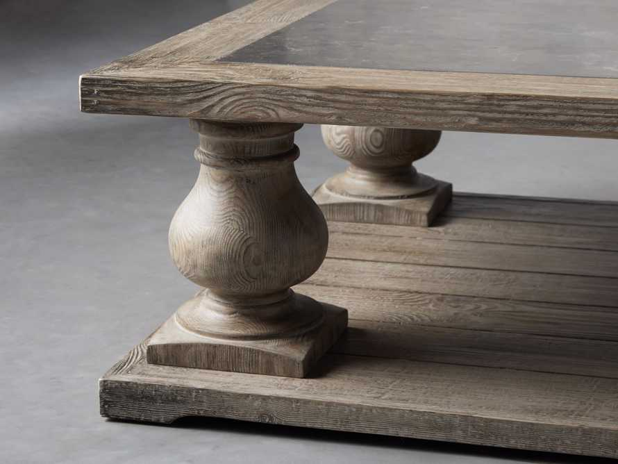"""Hudson 71"""" Coffee Table With Bluestone Top, slide 4 of 9"""