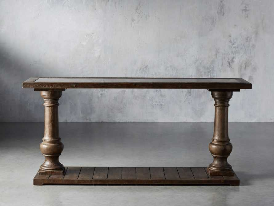 """Hudson 71"""" Console Table with Bluestone Top, slide 1 of 7"""
