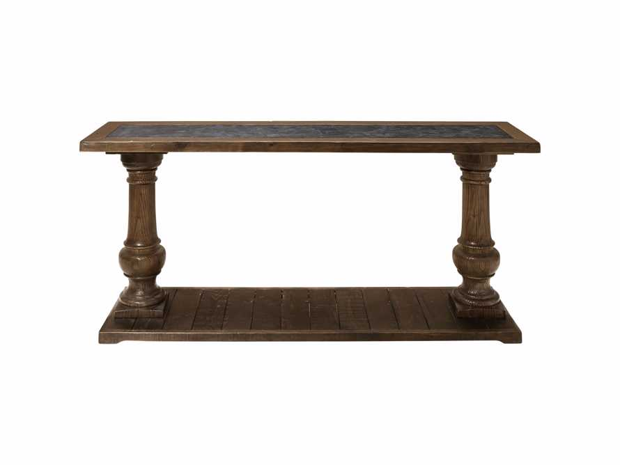 """Hudson 71"""" Console Table with Bluestone Top, slide 7 of 7"""