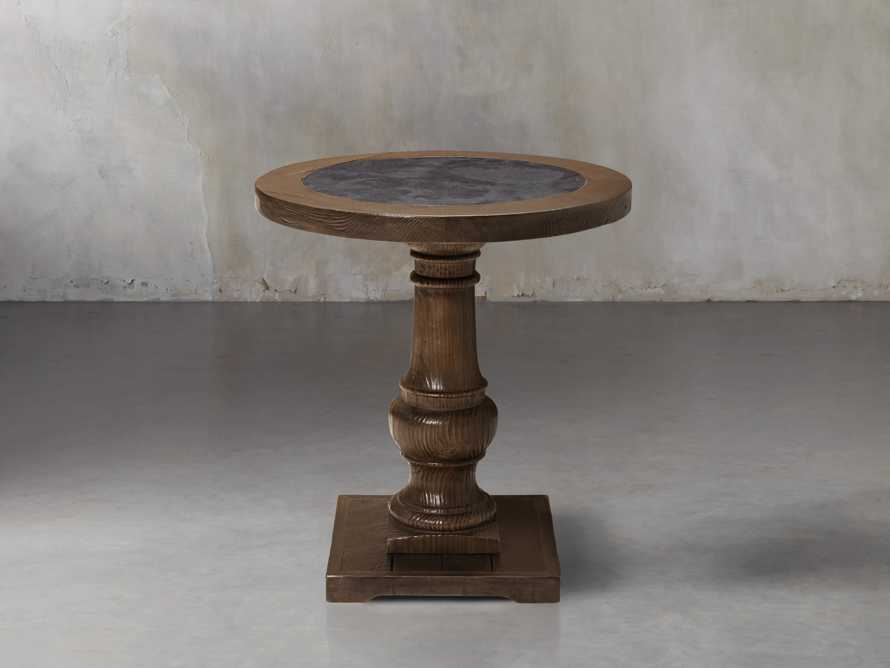 "Hudson 26"" End Table with Bluestone Top"