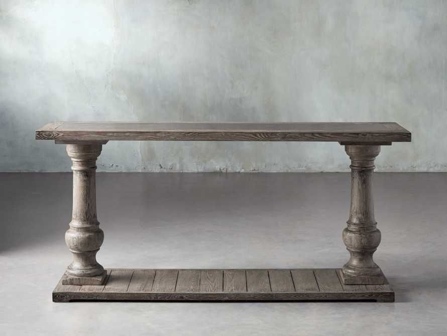 "Hudson 71"" Console Table with Bluestone Top, slide 1 of 8"