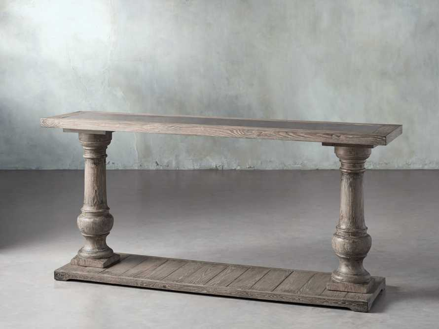 "Hudson 71"" Console Table with Bluestone Top, slide 2 of 8"
