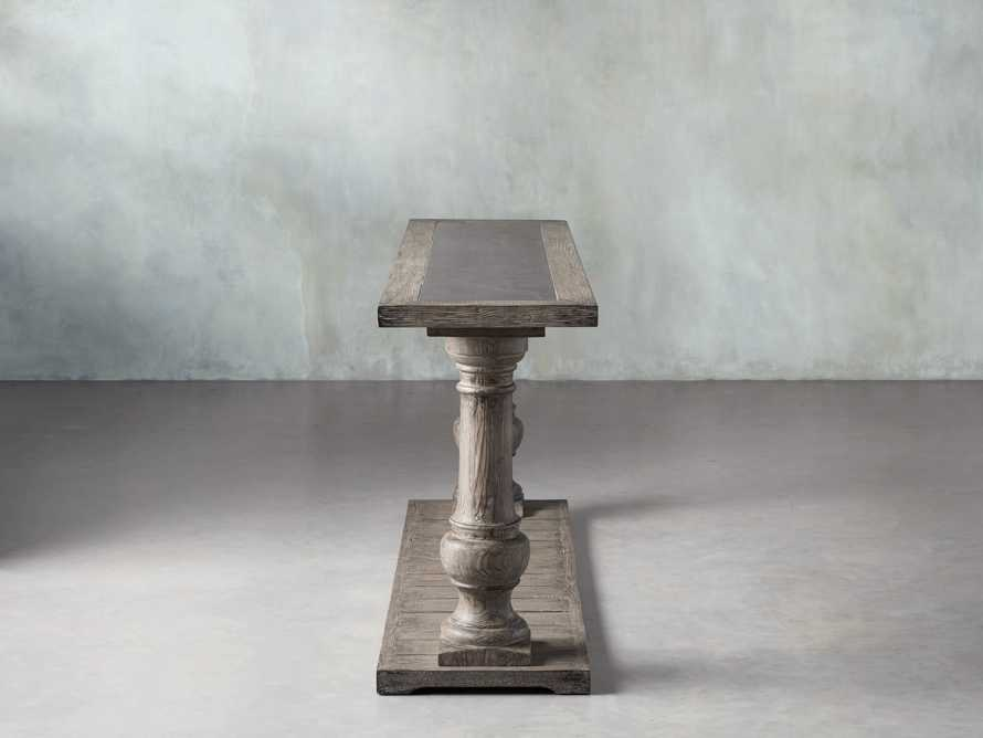 "Hudson 71"" Console Table with Bluestone Top"