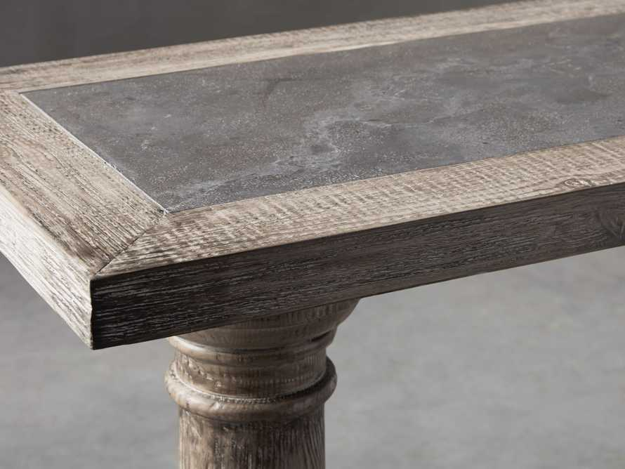 "Hudson 71"" Console Table with Bluestone Top, slide 4 of 8"