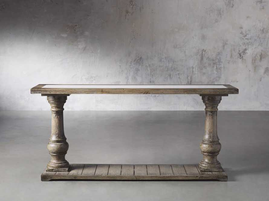 "Hudson 71"" Console Table with Bluestone Top, slide 1 of 5"