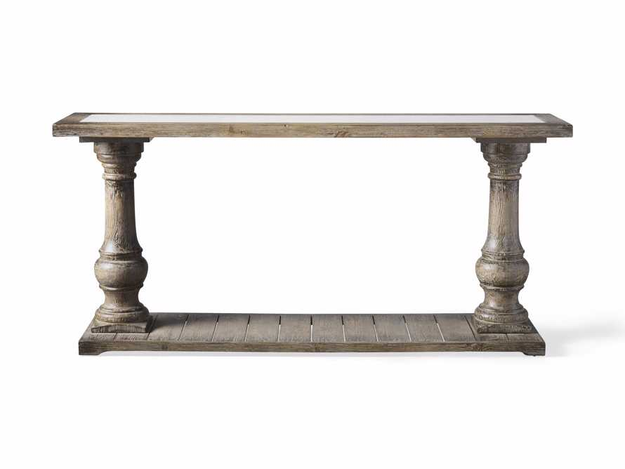 "Hudson 71"" Console Table with Bluestone Top, slide 5 of 5"