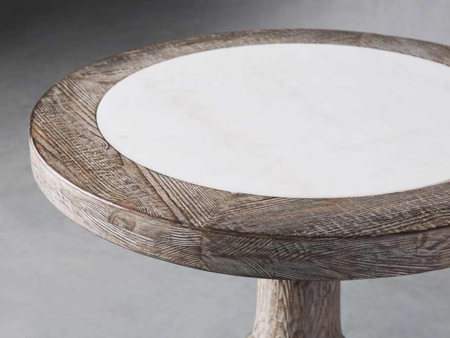"""Hudson 26"""" End Table With White MarbleTop, slide 3 of 5"""