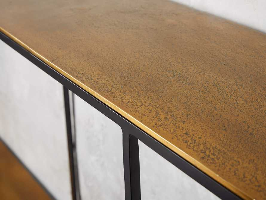 """Kavali 70"""" Console Table in Brass, slide 4 of 7"""