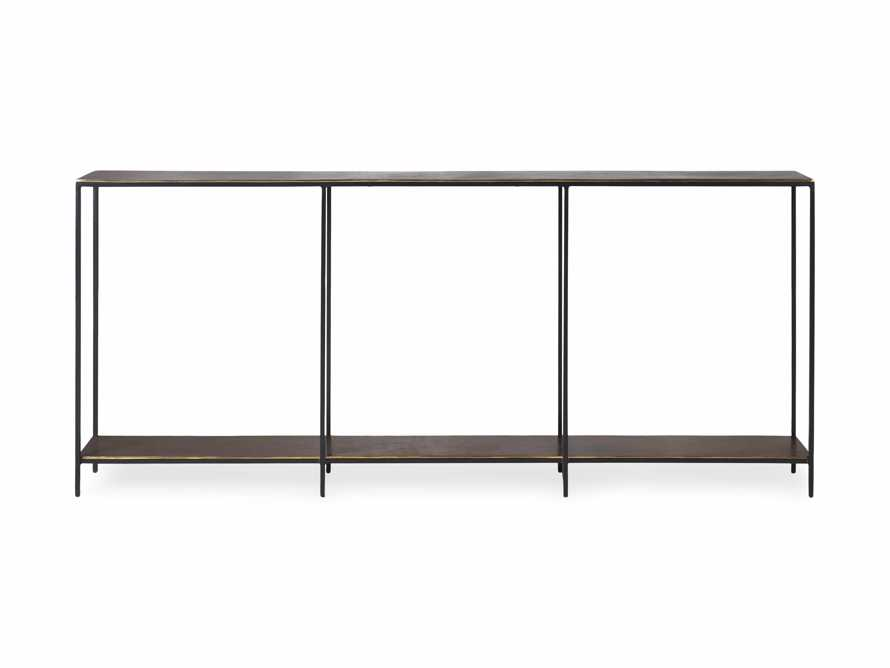 """Kavali 70"""" Console Table in Brass, slide 6 of 7"""