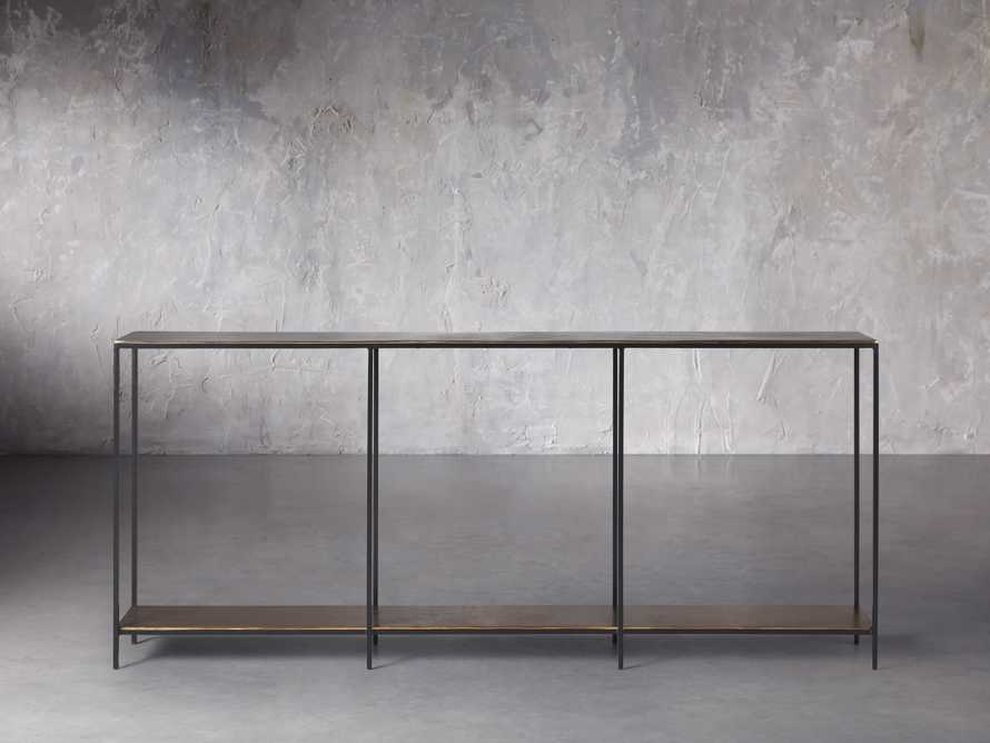 """Kavali 70"""" Console Table in Brass, slide 1 of 7"""