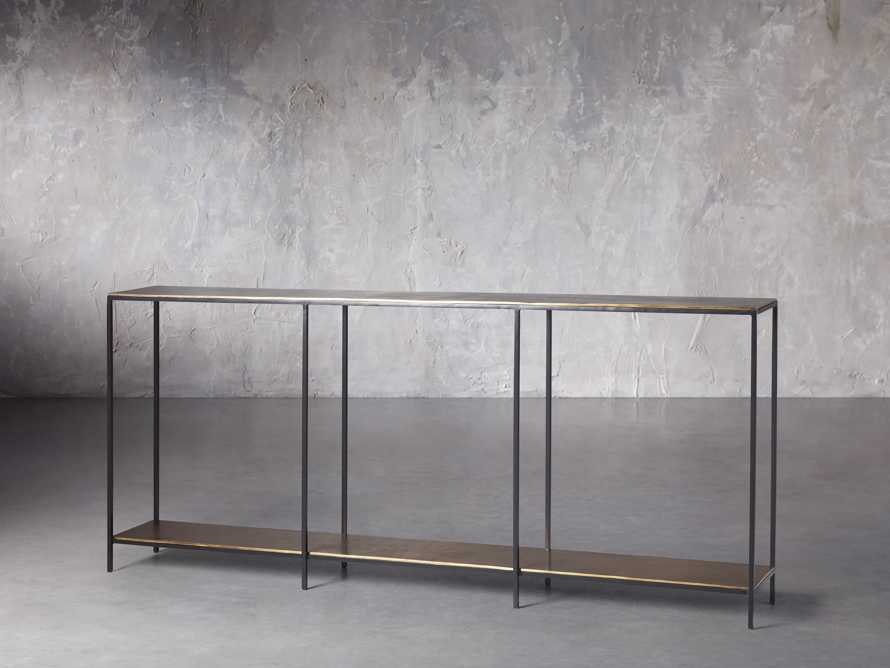 """Kavali 70"""" Console Table in Brass, slide 3 of 7"""