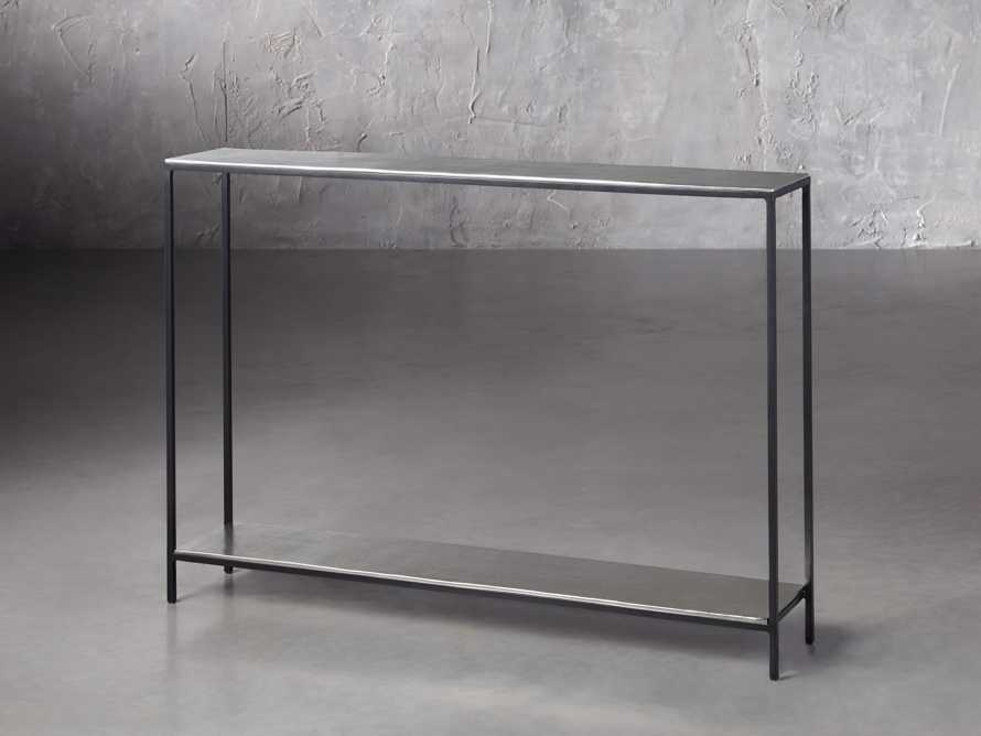 """Kavali 42"""" Console Table in Silver, slide 2 of 3"""
