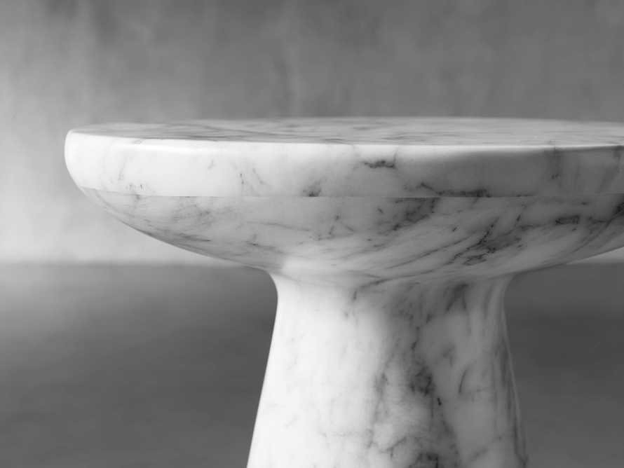 "Lucas Faux Marble 14"" End Table"