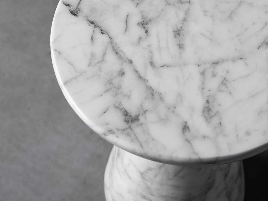 "Lucas Faux Marble 14"" End Table, slide 3 of 5"