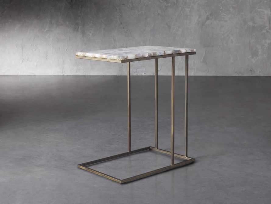 "Ludlow 27"" Grey Agate C Table, slide 1 of 6"