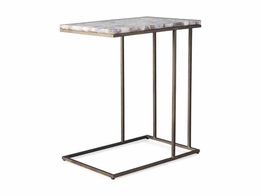 "Ludlow 27"" Grey Agate C Table, slide 6 of 6"