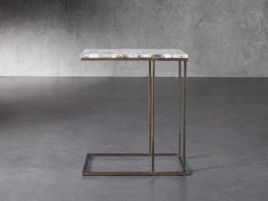 "Ludlow 27"" Grey Agate C Table, slide 2 of 6"