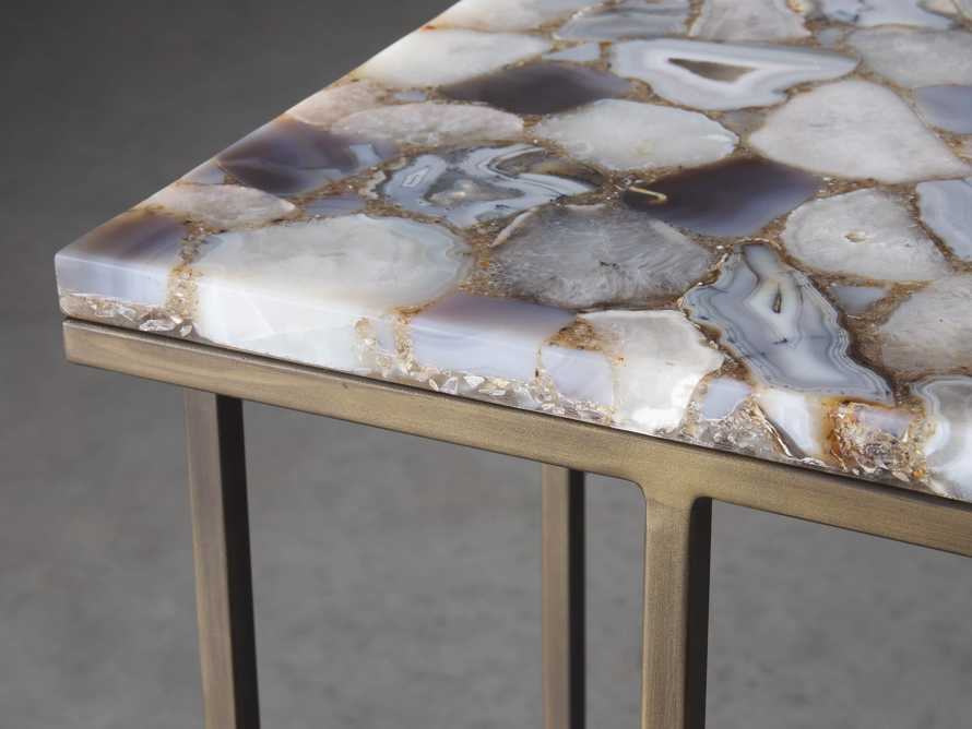 "Ludlow 27"" Grey Agate C Table, slide 3 of 6"