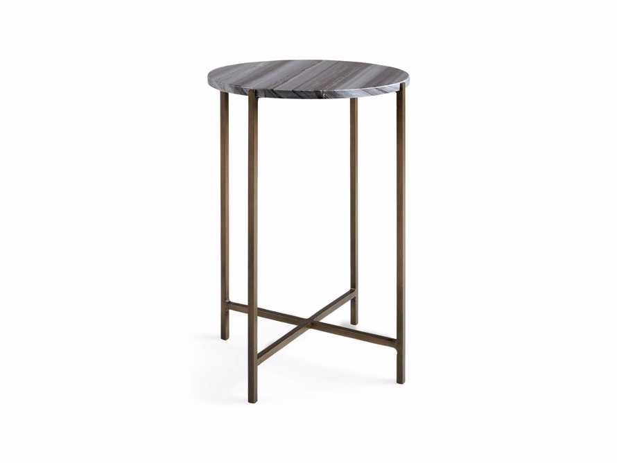 "Ludlow 15"" Black Marble Martini Table"
