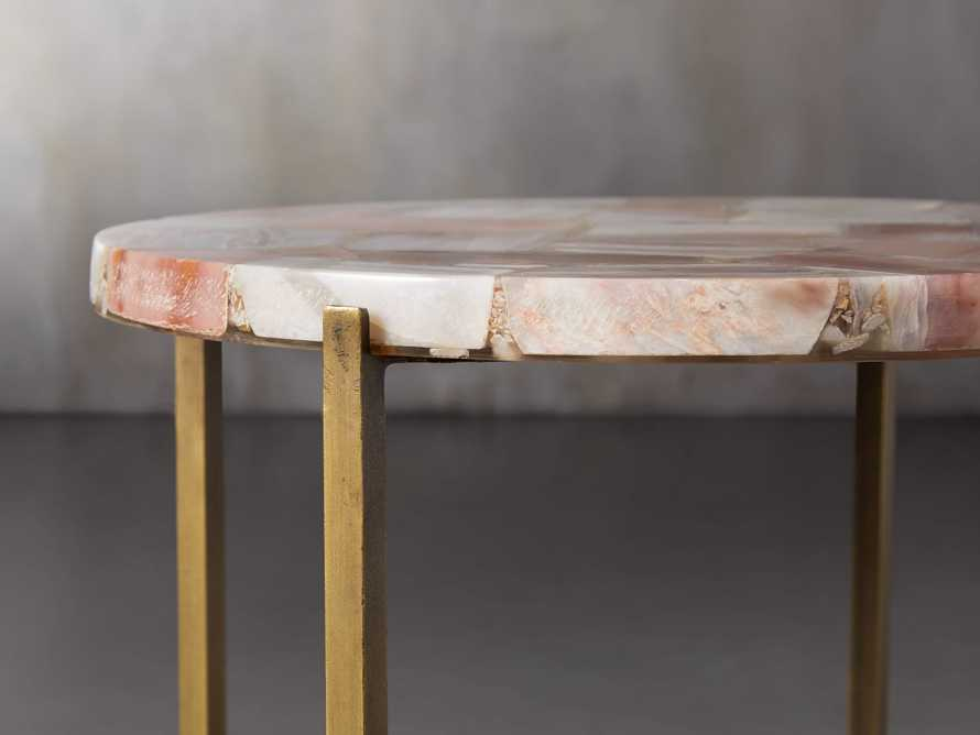 "Ludlow 15"" Botswana Quartz Martini Table, slide 3 of 6"