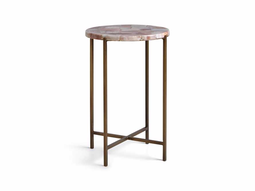 "Ludlow 15"" Botswana Quartz Martini Table, slide 6 of 6"