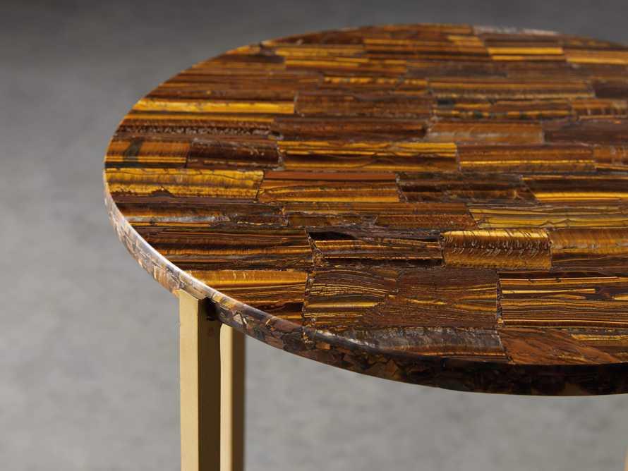 "Ludlow 15"" Tiger's Eye Martini Table"