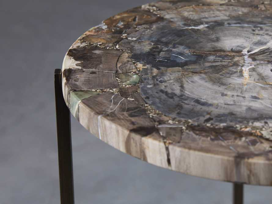 "Ludlow 15"" Petrified Wood Martini Table, slide 2 of 5"