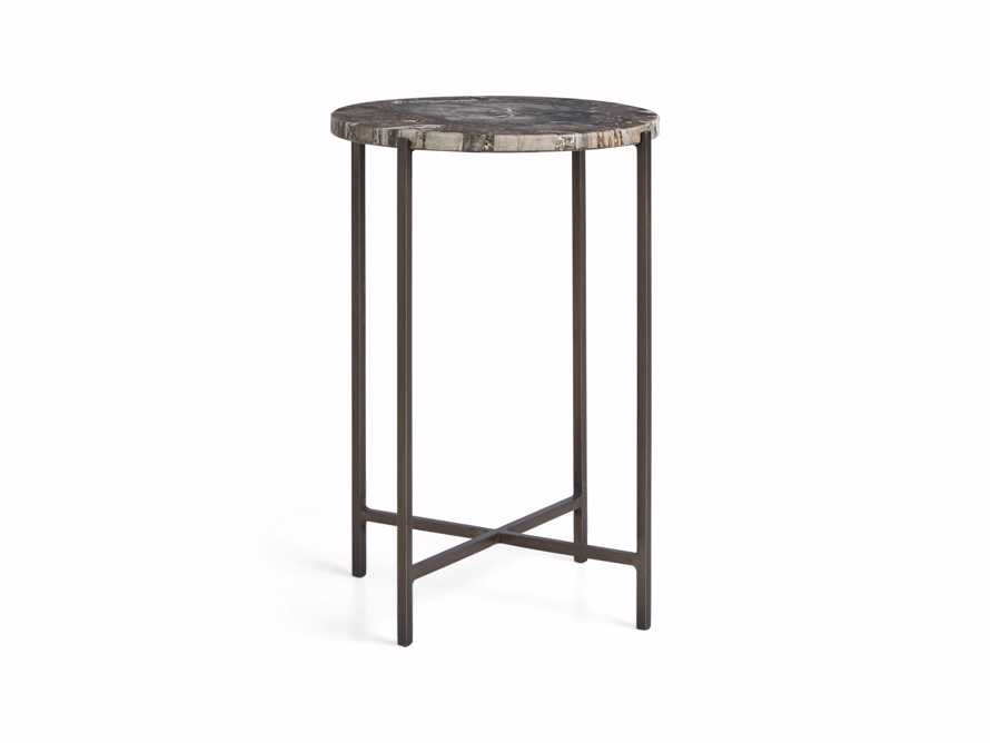 "Ludlow 15"" Petrified Wood Martini Table, slide 5 of 5"